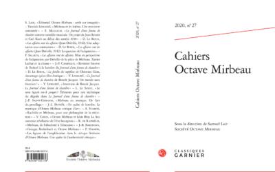 Cahiers Octave Mirbeau n°27