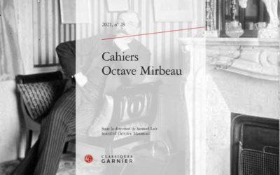 Parution des Cahiers Octave Mirbeau numéro 28
